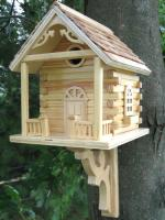 Home Bazaar Natural Cabin Birdhouse