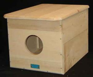 Barn Owl House, Unassembled with Predrilled Holes