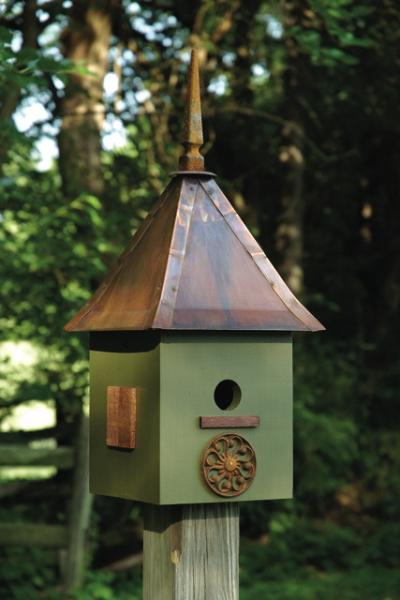 Heartwood Songbird Suite Birdhouse, Dark Olive