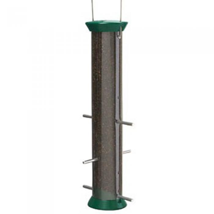"Droll Yankees New Generation 15"" Forest Green Nyjer Seed Tube Bird Feeder"