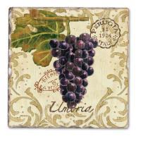 Counter Art Vista Grapes Single Tumbled Tile Coaster