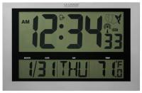 "La Crosse Technology Atomic Digital Clock w/ Large 4"" Time Display"