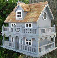 Home Bazaar Classic Series Novelty Cottage Birdhouse (Blue)