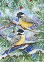 Toland Snowy Birds Garden Flag