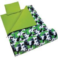 Olive Kids Green Camo Sleeping Bag