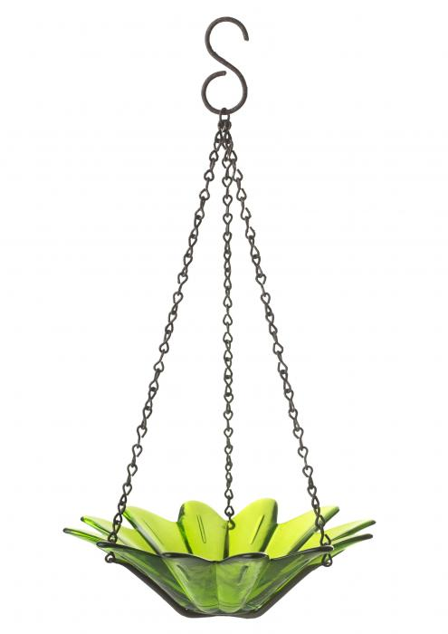 Couronne Company 8 inch Daisy Birdfeeder, Lime