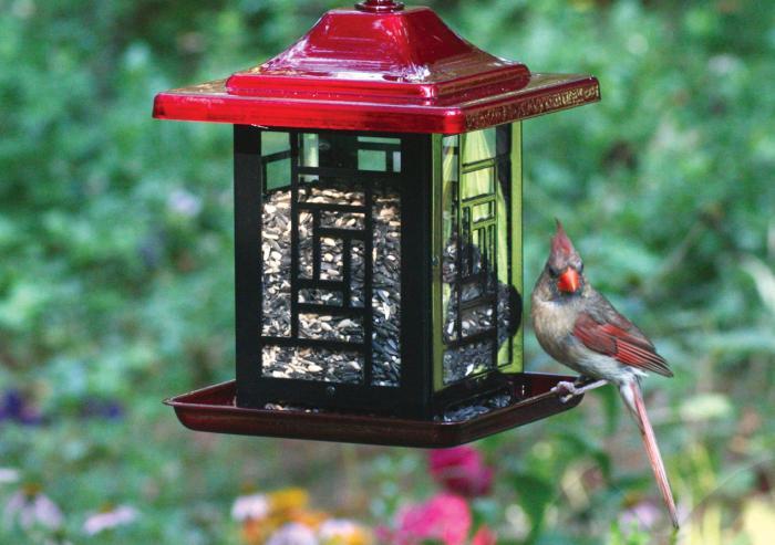 Homestead Mosaic Decorative Bird Feeder