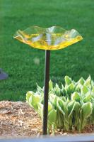 Bird's Choice Pole Mounted Acrylic Bird Bath-Yellow