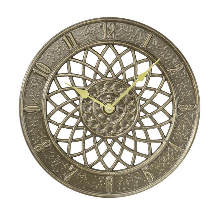 Whitehall Spiral Clock - Copper Verdi