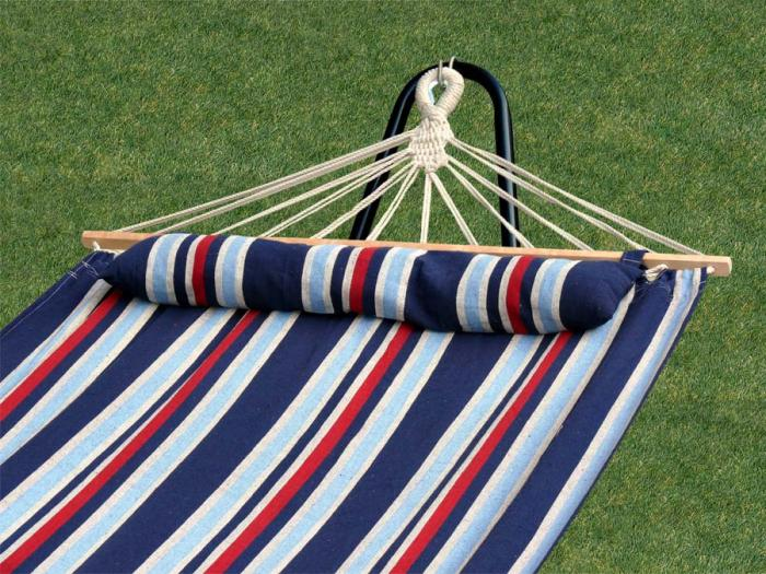 Bliss Hammocks Oversized Hammock w/ Spreader Bars & Pillow, Patriot